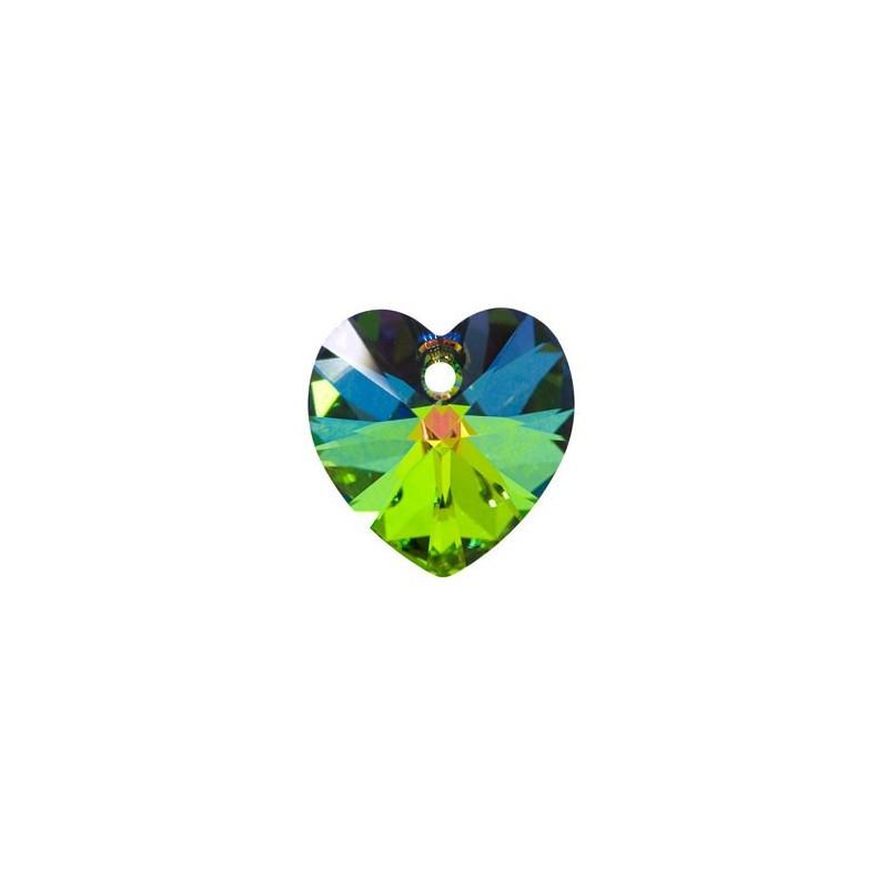 10.3x10MM Crystal Vitrail Medium (001 VM) XILION Heart Pendants 6228 SWAROVSKI ELEMENTS