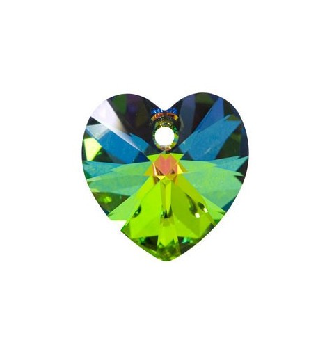 14.4x14MM Crystal Vitrail Medium (001 VM) XILION Heart Pendants 6228 SWAROVSKI ELEMENTS