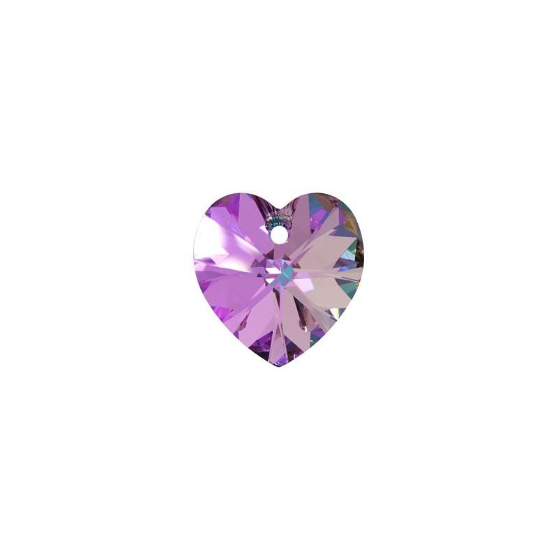 14.4x14MM Crystal Vitrail Light (001 VL) XILION Heart Pendants 6228 SWAROVSKI ELEMENTS