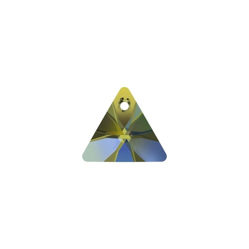 16MM Crystal Iridescent Green (001 IRIG) XILION Triangle Pendants 6628 SWAROVSKI ELEMENTS