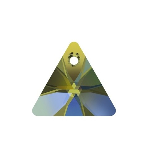 16MM Crystal Iridescent Green (001 IRIG) XILION Triangle Pendants 6628 SWAROVSKI ELEMENTS