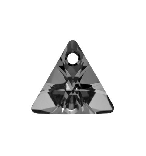 16MM Crystal Silver Night (001 SINI) XILION Triangle Pendants 6628 SWAROVSKI ELEMENTS