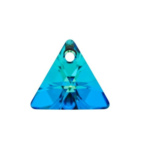 16MM Crystal Bermuda Blue P (001 BB) XILION Triangle Pendants 6628 SWAROVSKI ELEMENTS