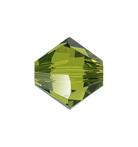 3MM Olivine (228) 5328 XILION Bi-Cone Beads SWAROVSKI ELEMENTS
