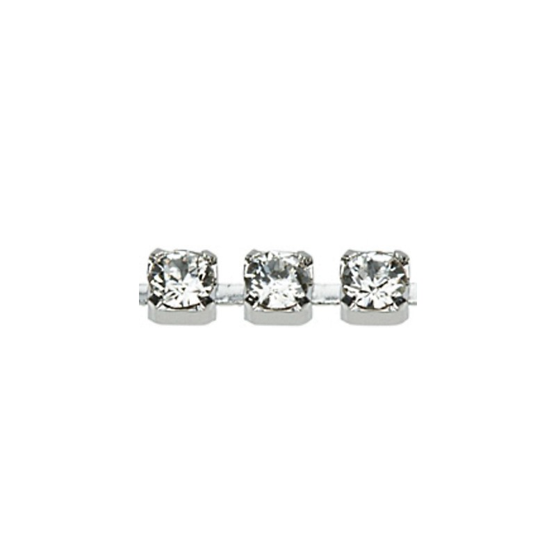 PP24(~3.2mm) Rhodium pinnatud kristall F (001) Swarovski Elements kett