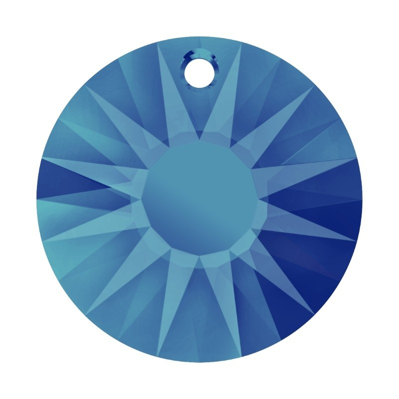 19MM Crystal Bermuda Blue P (001 BBL) Sun Pendant partly frosted 6724/G SWAROVSKI ELEMENTS