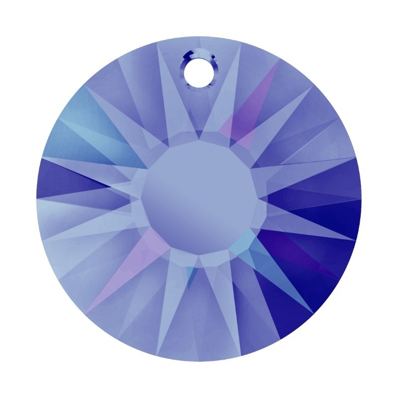 19MM Crystal Heliotrope P (001 HEL) Sun Pendant partly frosted 6724/G SWAROVSKI ELEMENTS