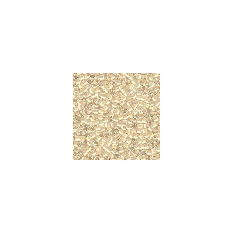 DB-52 Cream-Lined Crystal AB Miyuki DELICA 11/0 seed beads