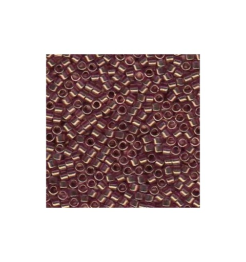 DB-108 Transparent Amethyst w/Gold Luster Miyuki DELICA 11/0 seed beads