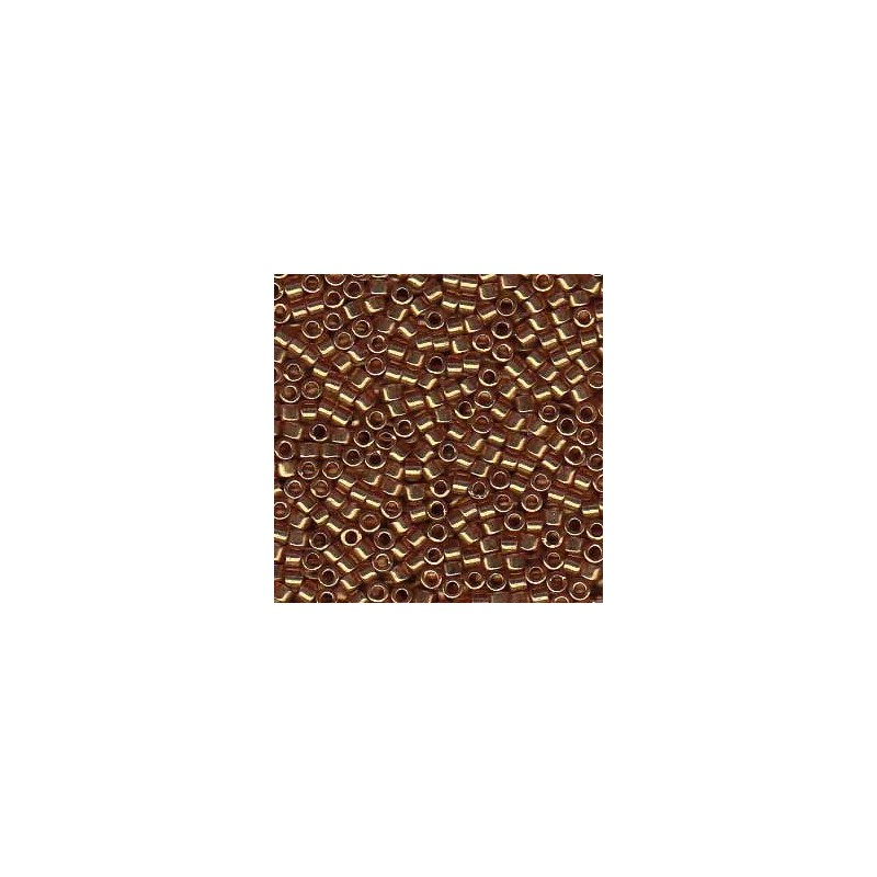 DB-115 Transparent Topaz w/Gold Luster Miyuki DELICA 11/0 seed beads