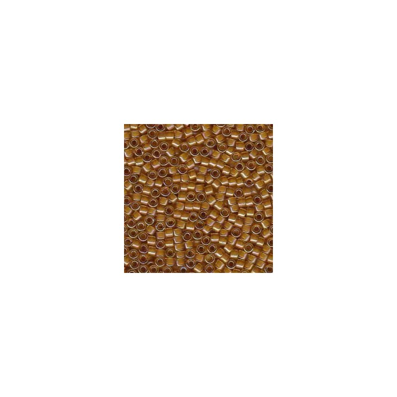 DB-272 Lt. Amber-Lined Topaz AB Miyuki DELICA 11/0 seed beads