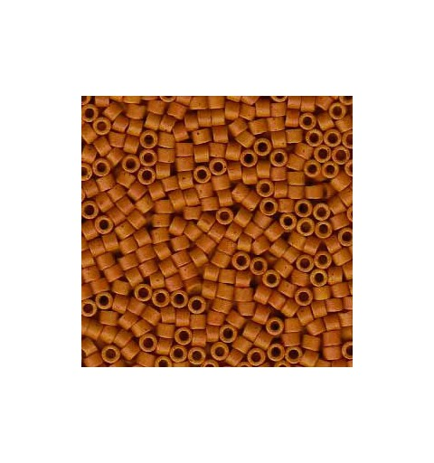 DB-653 Semi-Matte Dyed Opaque Pumpkin Spice Miyuki DELICA 11/0 seed beads