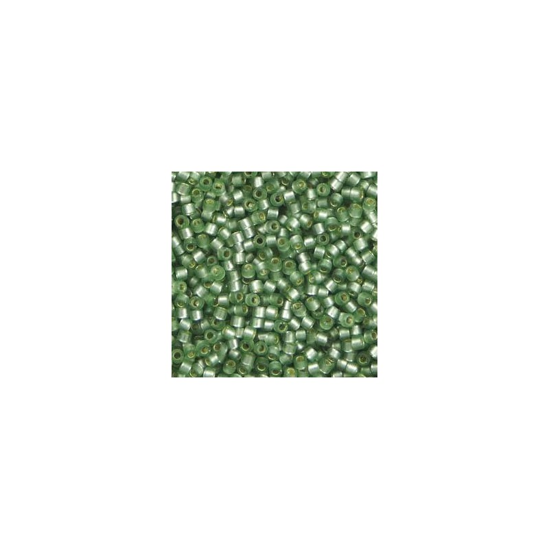 DB-689 Semi-Matte Silver-Lined Grey Green Miyuki DELICA 11/0 seed beads