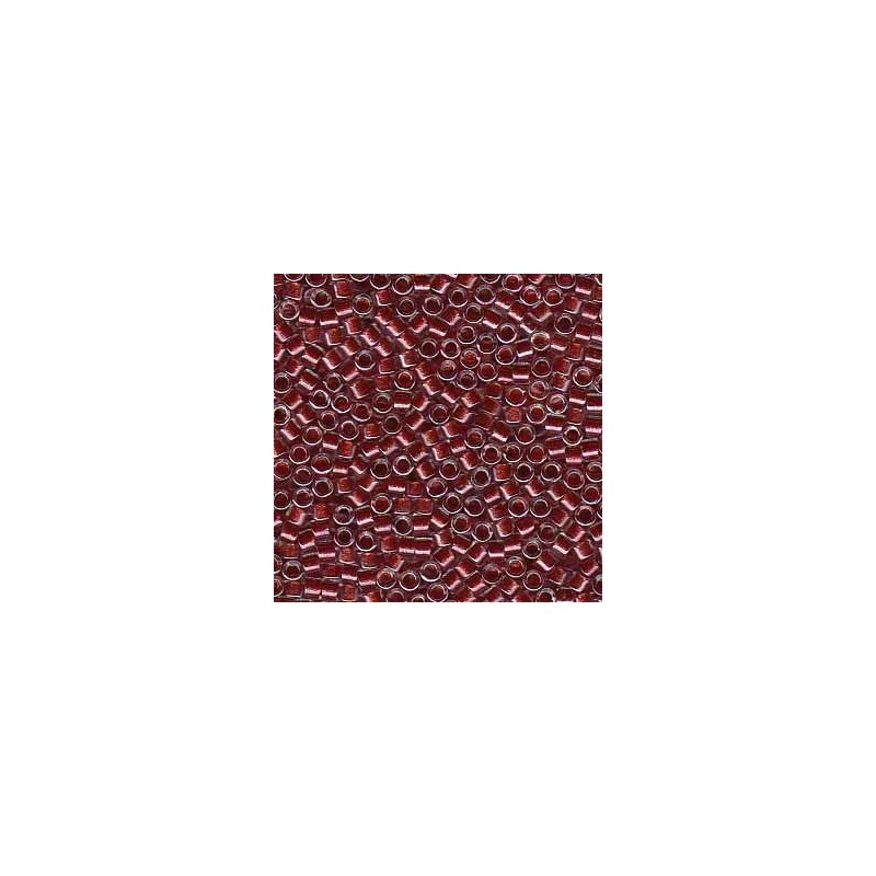 DB-924 Cranberry Lined Crystal w/Sparkle Miyuki DELICA 11/0 seemnehelmed