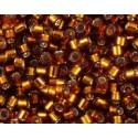 DBM-144 Silverlined Dark Topaz Miyuki DELICA 10/0 seed beads
