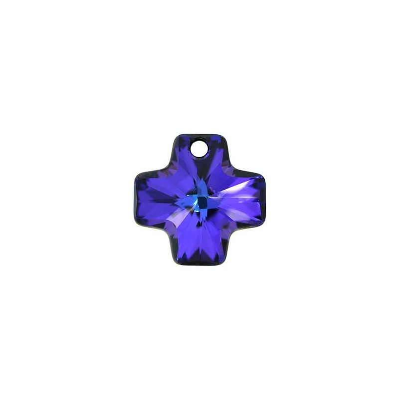 20MM Crystal Heliotrope (001 HEL) Crystal Cross Pendant 6866 SWAROVSKI ELEMENTS