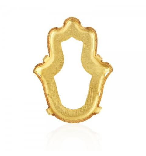 18x13.7mm 4778/S 1PH203 Gold Plating Fatima Hand Fancy Stone Setting (4 HOLES/2EACH SIDE - OPEN)
