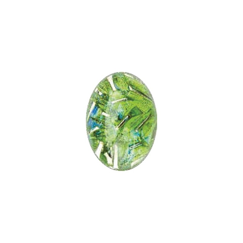 25x18mm Opal Peridot 03003 with Foiling 416-12-564 Cabochons Preciosa