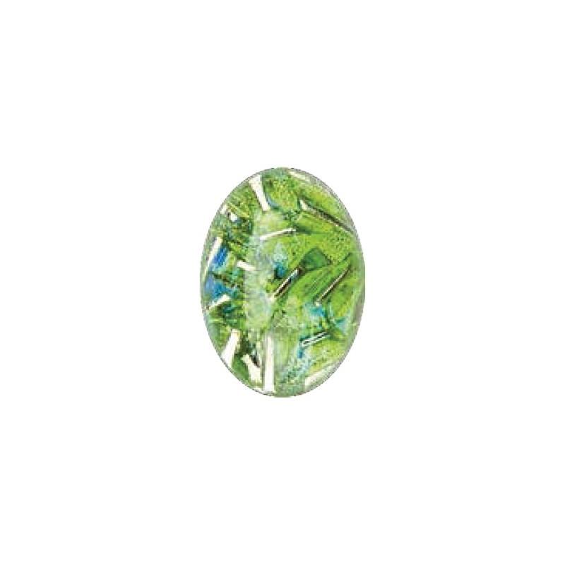 25x18mm Opal Peridot 03003 with Foiling 416-12-564 Cabochons Preciosa