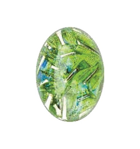 25x18mm Opaal Peridot 03003 with Foiling 416-12-564 Cabochons Preciosa