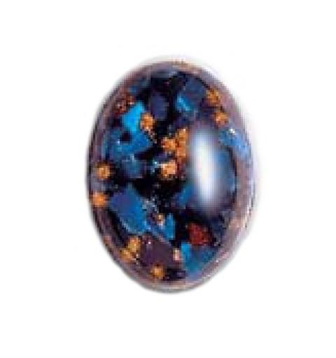 18x13mm Moonshine Opaal with Avanturine 03051 416-12-030 Cabochons Preciosa