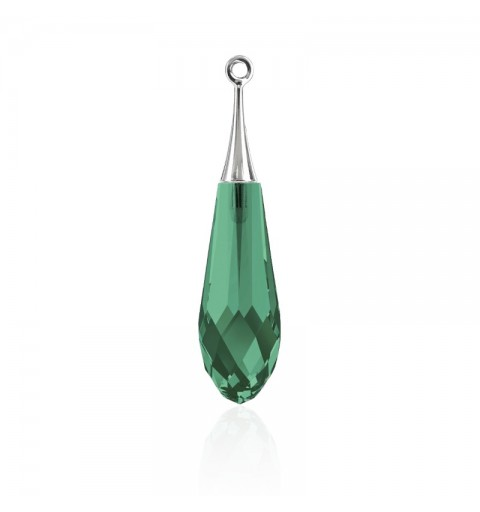 21MM Emerald RHOD (205) Pure Drop Ripats with trumpet cap 6532 SWAROVSKI ELEMENTS