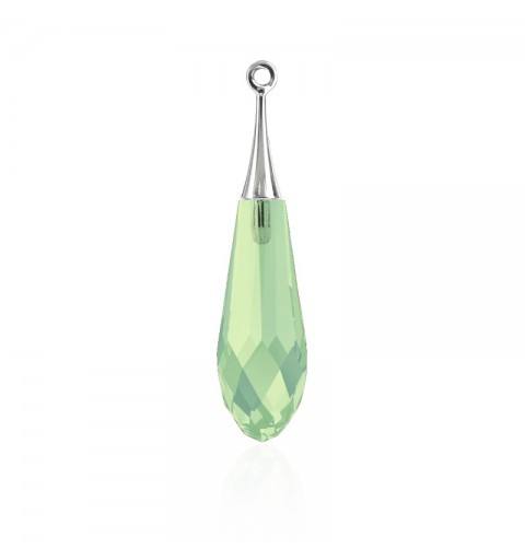 21MM Chrysolite Opal RHOD (294) Pure Drop Ripats with trumpet cap 6532 SWAROVSKI ELEMENTS