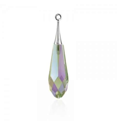 21MM Crystal Paradise Shine RHOD (001 PARSH) Pure Drop Pendant with trumpet cap 6532 SWAROVSKI ELEMENTS