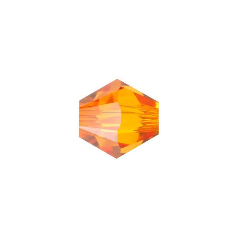 3MM Tangerine (259) 5328 XILION Bi-Cone Helmes SWAROVSKI ELEMENTS