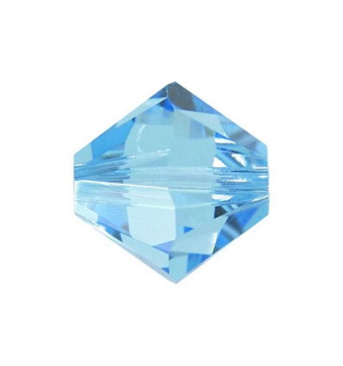 6MM Aquamarine (202) 5328 XILION Bi-Cone Beads SWAROVSKI ELEMENTS