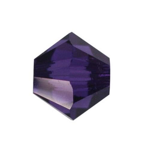 6MM Purple Velvet (277) 5328 XILION Bi-Cone Helmes SWAROVSKI ELEMENTS