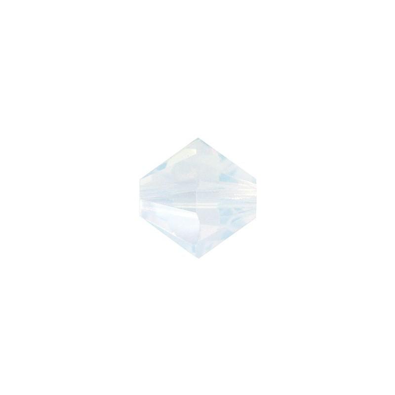 6MM White Opal (234) 5328 XILION Bi-Cone Helmed SWAROVSKI ELEMENTS