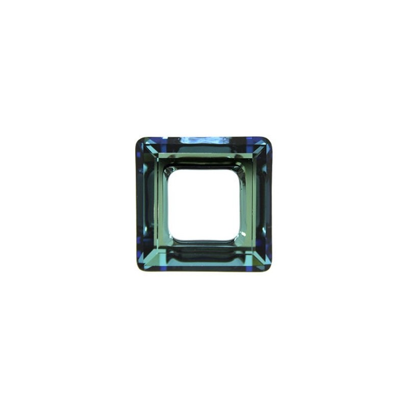 14mm Crystal Bermuda Blue (001 BB) Square Ring 4439 Fancy Stone Swarovski Elements