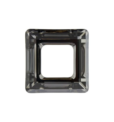 14mm Crystal Silver Night (001 SINI) Square Ring 4439 Fancy Stone Swarovski Elements