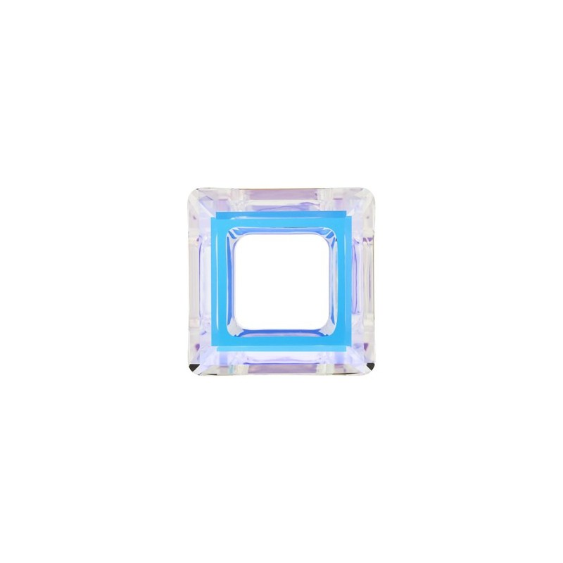 14mm Crystal AB (001 AB) Square Ring 4439 Fancy Stone Swarovski Elements
