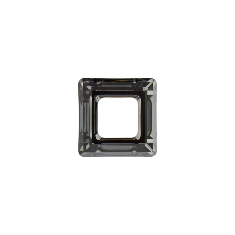 20mm Crystal Silver Night (001 SINI) Square Ring 4439 Fancy Stone Swarovski Elements