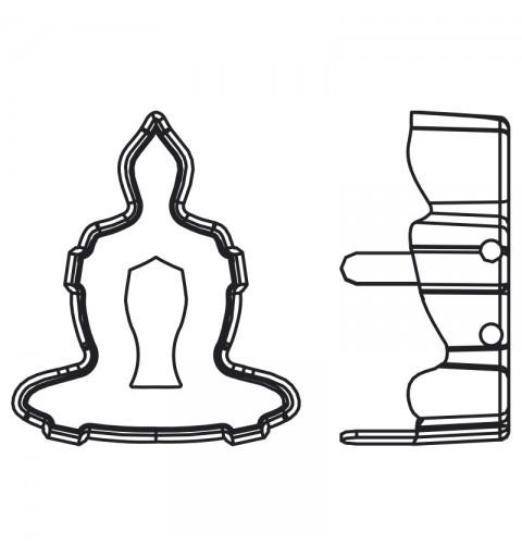 18x15.6mm 4779/S 1PH2OH Rhodium Plating Buddha Ehete Kivipesa (4 AUKUDEGA/2MÕLEMADE POOLT - AVATUD)