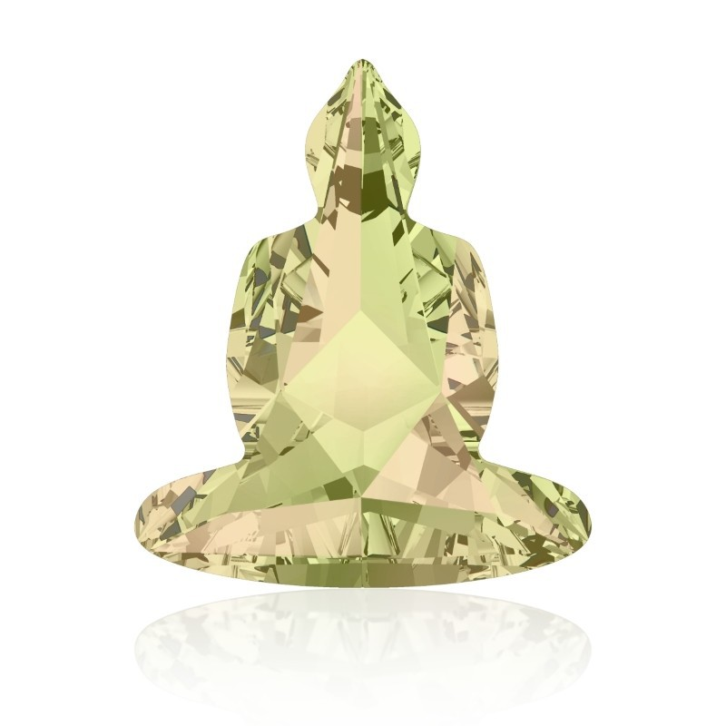 18x15.6mm Crystal Luminous Green F (001 LUMG) Buddha 4779 Fancy Stone Swarovski Elements