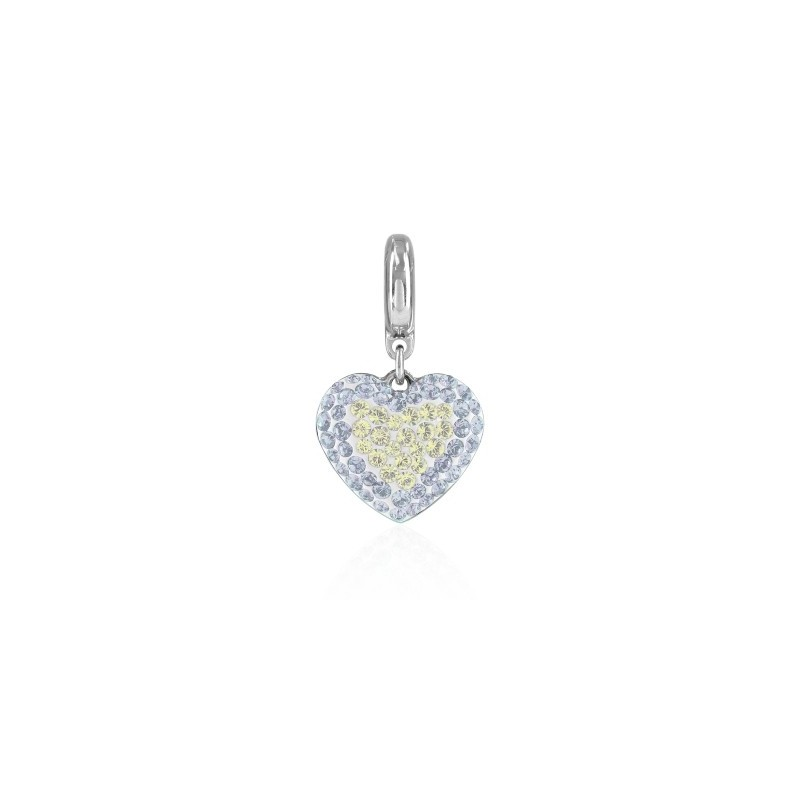 14mm BeCharmed Pavé Heart Charm 86502 Crystal Moonlight Swarovski Elements