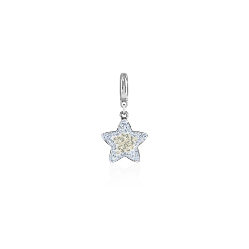 14mm BeCharmed Pavé Star Charm 86512 Crystal Moonlight Swarovski Elements
