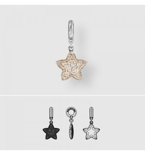 14mm BeCharmed Pavé Star Charm 86512 Crystal Moonlight Swarovski Elements