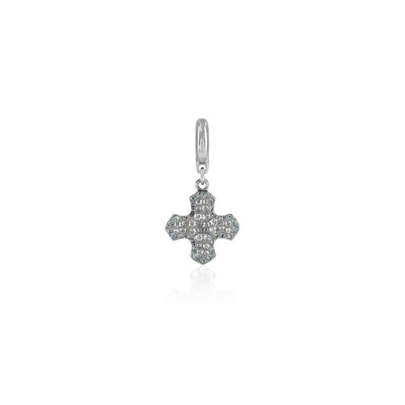 14mm BeCharmed Pavé Greek Rist Charm 86522 Crystal Moonlight (001 MOL) Swarovski Elements