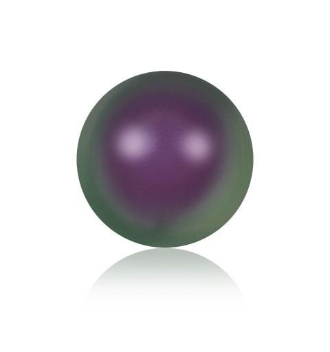 10MM Iridescent Purple Crystal Round Half Drilled Pearl (001 943) 5818 SWAROVSKI ELEMENTS