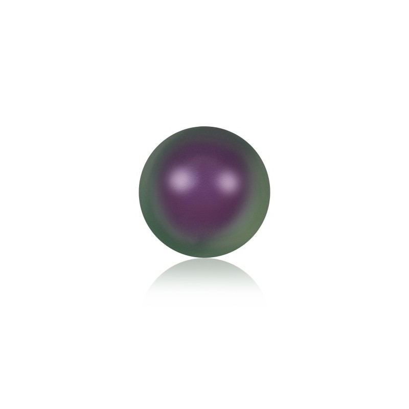 8MM Iridescent Purple Crystal Round Half Drilled Pearl (001 943) 5818 SWAROVSKI ELEMENTS