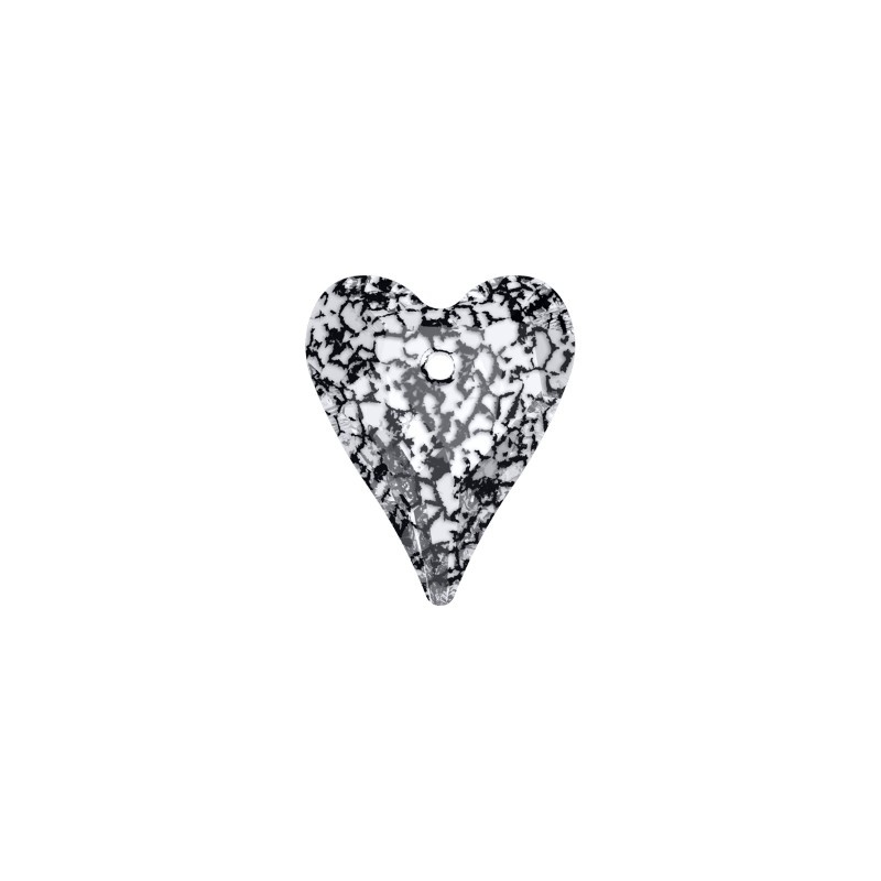 37MM Crystal Black Patina (001 BLAPA) Wild Heart Pendant 6240 SWAROVSKI ELEMENTS