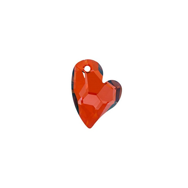 36MM Crystal Red Magma (001 REDM) Devoted 2 U Heart Pendant 6261 SWAROVSKI ELEMENTS