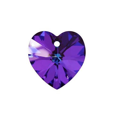 18x17.5MM Crystal Heliotrope (001 HEL) XILION Heart Pendants 6228 SWAROVSKI ELEMENTS