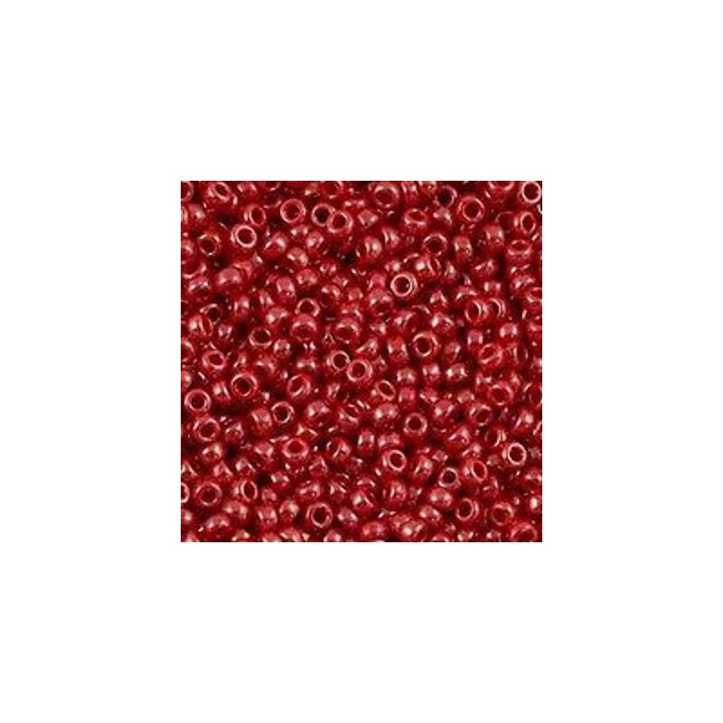 RR-11-426 Opaque Red Luster Miyuki Круглые Rocailles 11/0