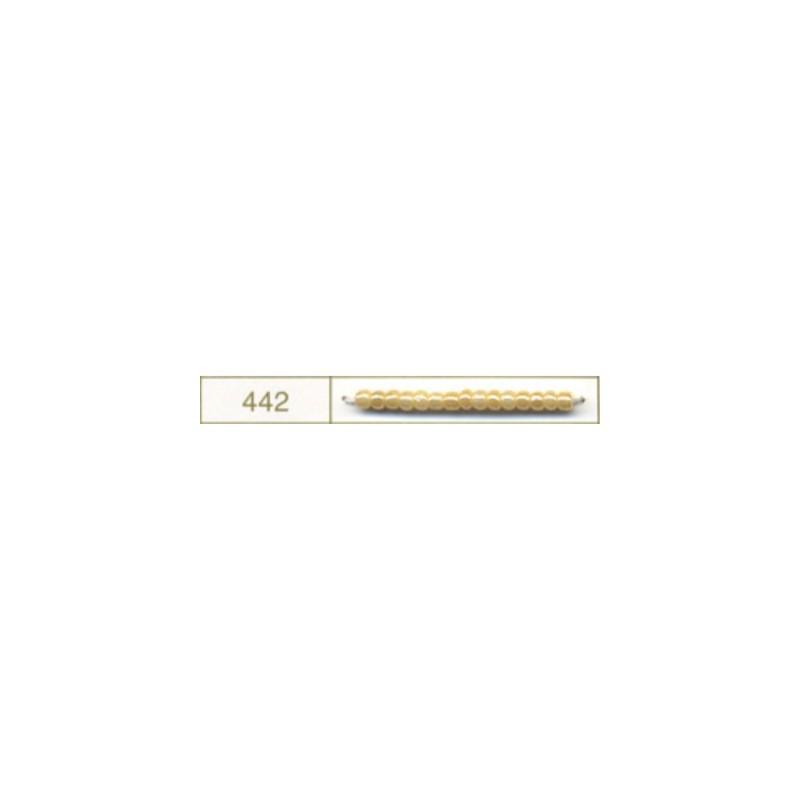 RR-11-442 Opaque Beež Luster Miyuki Ümmargused Rocailles 11/0