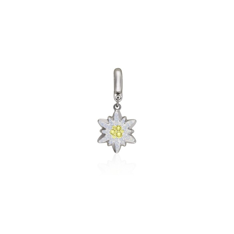 14mm BeCharmed Pavé Edelweiss Charm 86532 Jonquil (213) Swarovski Elements